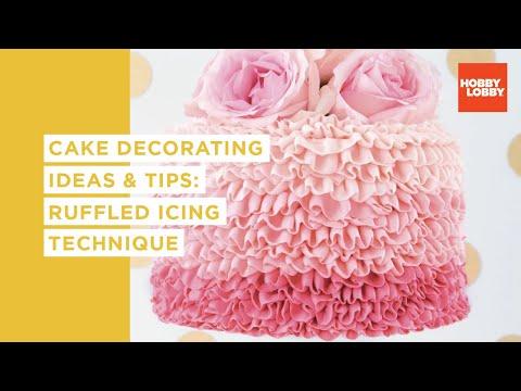 Cake Decorating: Ruffled Icing Technique