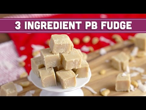 How to Make 3 Ingredient Peanut Butter Fudge, Vegan - HOLIDAY FOODIE COLLAB - Mind over Munch