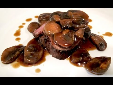 Filet MIgnon (Steak) with Mushroom Red Wine Sauce