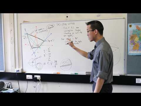 Parametrics Exam Question (2 of 2: Circle geometry proof)