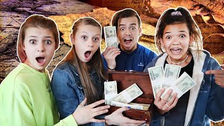 We SNUCK into a SECRET Treasure HUNT! They did not want us to WIN!