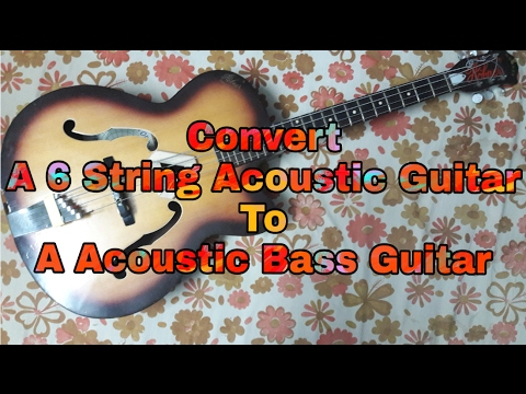 Convert Acoustic Guitar To Acoustic Bass Guitar | DIY | Music Review Reaction