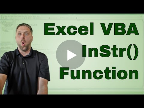 #8 Excel VBA (Macro) Instr Function