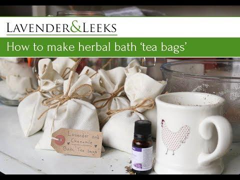 Katie's Allotment - How to Make Herbal Bath 'Tea Bags'