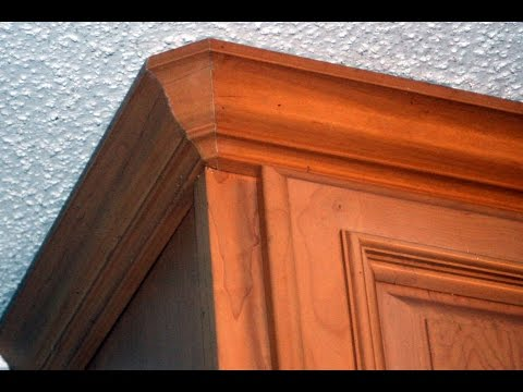 How to cut crown molding ( Round corners,coping)