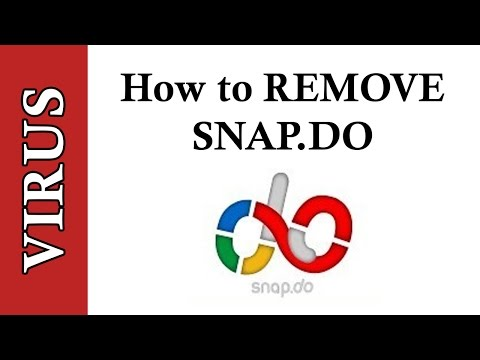 How to completely remove snapdo snap.do toolbar virus from chrome firefox and internet explorer