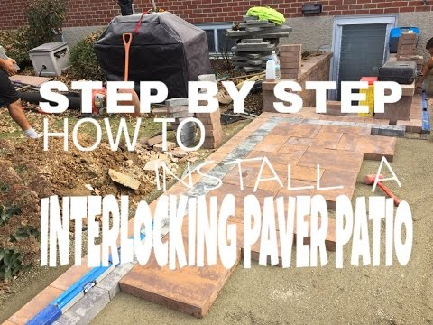 Step by step on how to install an interlocking paver patio in Hanover, PA - Ryan's Landscaping