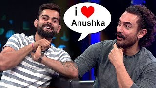 Virat Kohli Finally Accepts Love For GIRLFRIEND Anushka Sharma On Aamir Khan