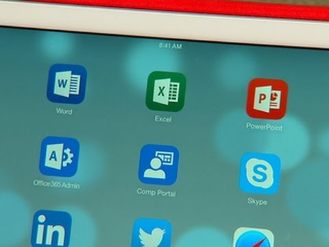 CNET News - Microsoft Office for iPad in action