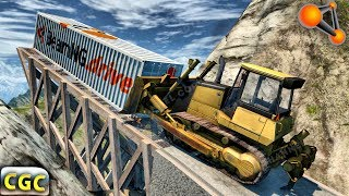 Contraband Cargo Police Chases and Roadblocks Crashes BeamNG