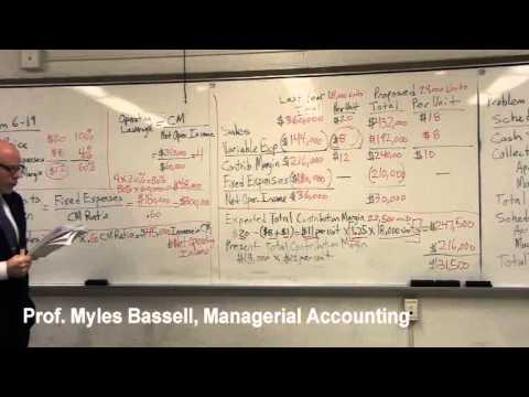 8 of 10 Managerial Accounting Basics - 8 Contribution Margin Ratio, Break-even point