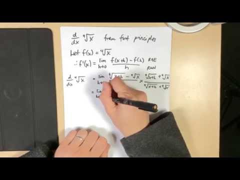 Differentiating the fourth root of x (by first principles)