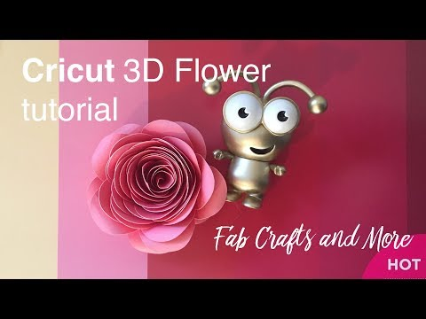 How to make Cricut paper 3D Flowers in Design Space