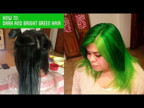 HAIR TRANSFORMATION FROM BLACK TO GREEN!
