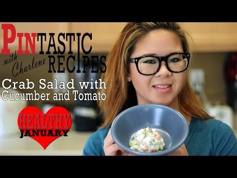 Crab Salad with Cucumber and Tomato - Pintastic Recipes