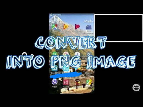 How to change any convert into PNG format in Android/Ios!!