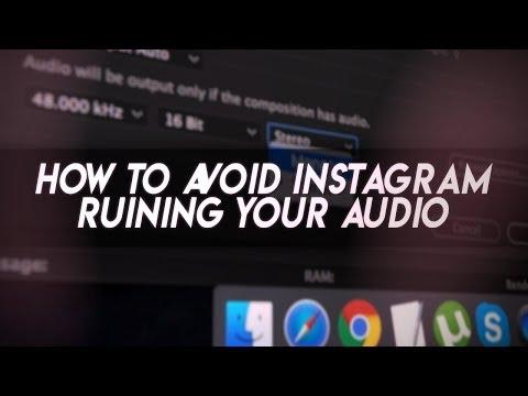 HOW TO AVOID INSTAGRAM AUDIO R*PE | AE Tutorial