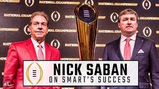 Nick Saban on his personal relationship with Kirby Smart, pride in former assistants
