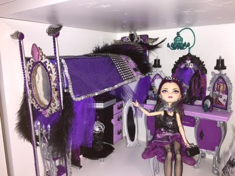 EVER AFTER HIGH RAVEN QUEEN DOLL BED REMAKE