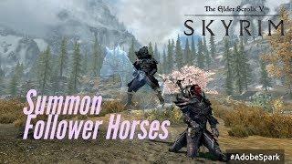 Skyrim PS4 Mods: Sagitar Stables & Darkmayer's Swift Steeds