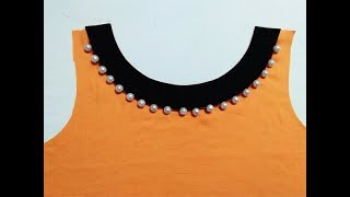 Latest Boat Neck design Cutting in Professional Style