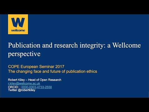 Publication and research integrity: a Wellcome perspective