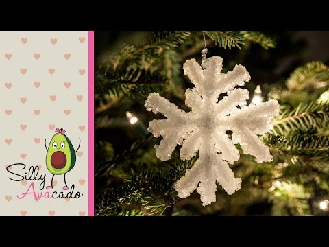 How to Make a Crystal Snowflake Ornament w/ Borax - Kid Friendly DIY Christmas Craft & Holidays!