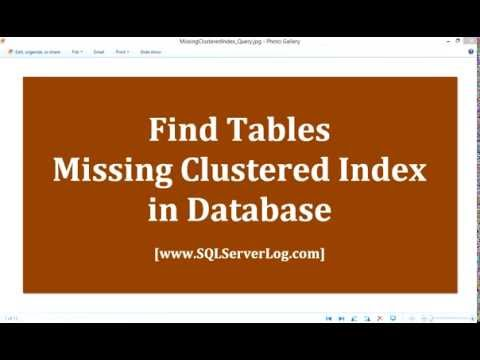 Find Tables Missing Clustered Index in SQL Server [HD]