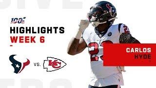 Carlos Hyde Barrels Down For 116 Yds 1 TD NFL 2019 Highlights