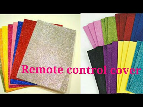 DIY Dust proof Remote control cover from Foam sheet ll AC, TV,  etc