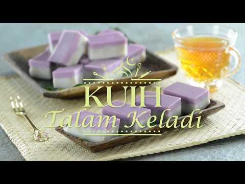 Resipi Raya: Kuih Talam Keladi (Yam Layered Kuih)