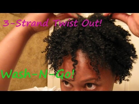 3-Strand Twist Out on a Wash-N-Go Short Natural Hair