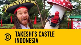 Take A Ride On The Flying Fungus | Takeshi's Castle Indonesia