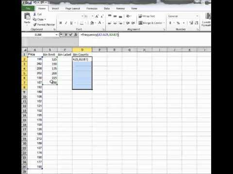 Histogram Bins in Excel
