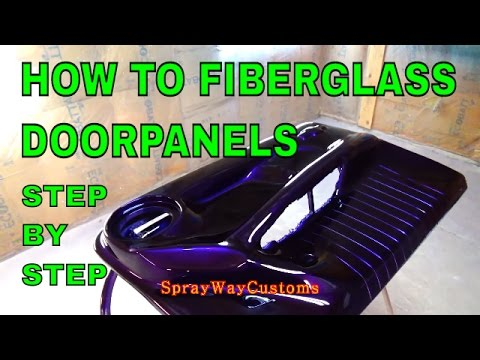 How To Fiberglass Door Panels - Step By Step - Box Chevy Caprice - ALLKANDY WET WET / HOUSE OF KOLOR