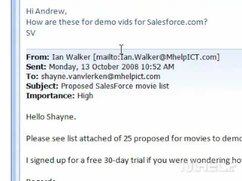 How to open attachments in an email message