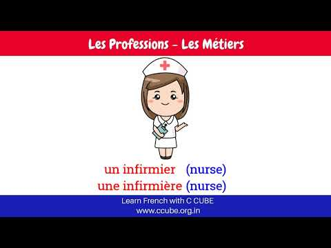 Profession in French with Masculine and Feminine - Job Professions Occupations in French