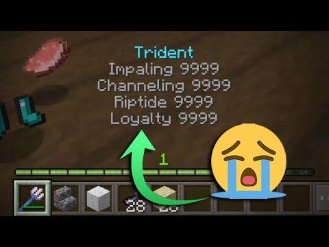 Worst Idea: Super Enchantments on Trident.. - Minecraft PE 1.3