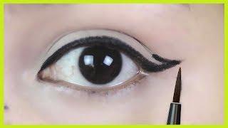 Eyeliner tutorial/How to apply perfect winged eyeliner/INDIANGIRLCHANNEL TRISHA