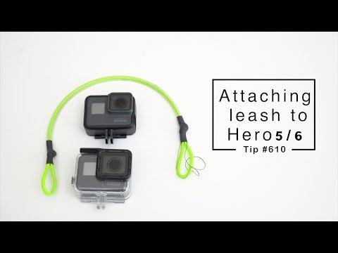 GoPro Hero6 / Hero5: Attaching safety leash - GoPro Tip #610