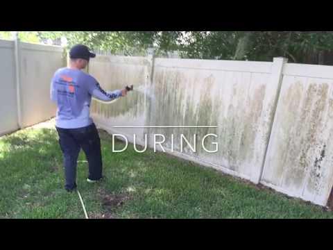 Clean a vinyl PVC fence - CentraFlo