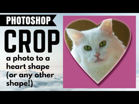 Crop a Photo to a Heart Shape - Using Adobe Photoshop Custom Shapes