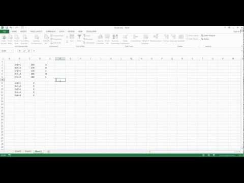 How to use Excel Solver to solve systems of equations