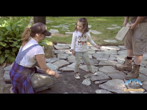 HOW TO LAY A FLAGSTONE PATIO: Using Gator Base Instead of Gravel