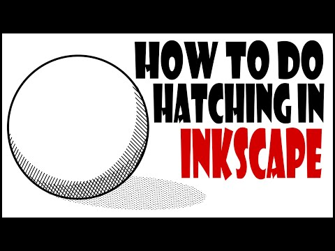 Inkscape Tutorials For Beginners- How To Do Hatching In Inkscape.