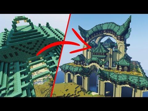 Minecraft Ocean Monument EXTREME Transformation!