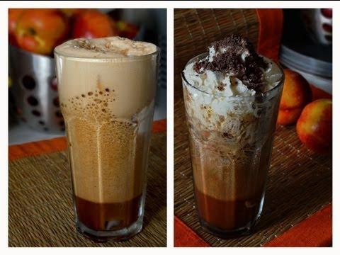 Iced Coffee with Vanilla/Chocolate Flavor