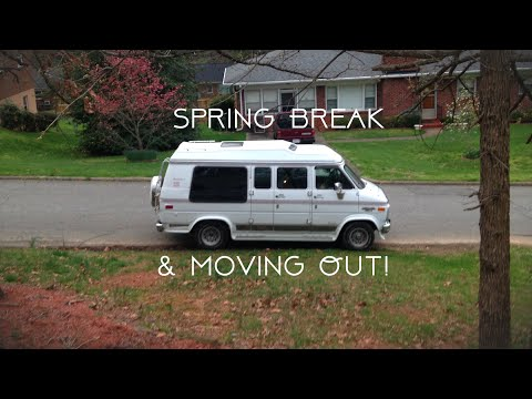 Enjoying Spring Break While Moving into the Van | Van Life for a Female