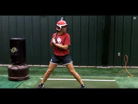 Batting: Lauren Chamberlain Slow Motion Hitting