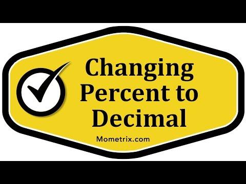 Changing Percent to Decimal